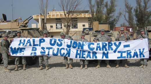 Halp us Jon Carry - we r stuck hear n irak